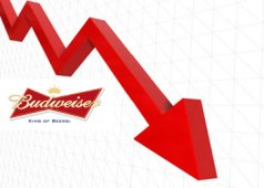 Dramatic drop in AB InBev share price