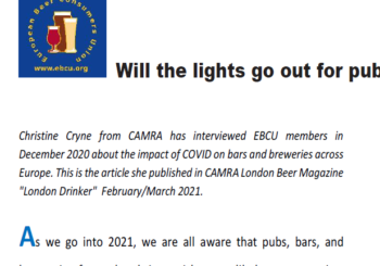 Will the lights go out for bars, pubs and breweries in Europe